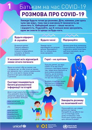 Як говорити з дитиною про COVID-19? Рекомендації Міністерство освіти і науки України